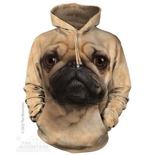 The Mountain Pug Face Pull Over Hoodie Men's Tan Sweatshirt