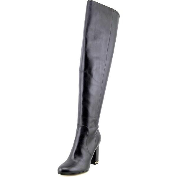 Michael Michael Kors Sabrina Boot Women Leather Black Over the Knee Boot