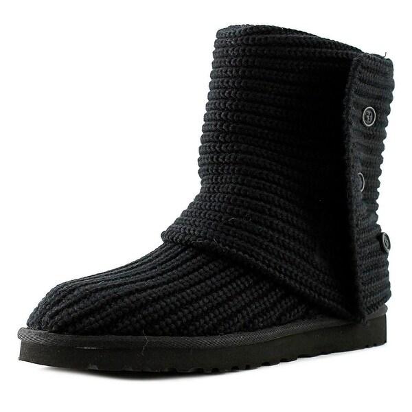 Ugg Australia Cardy Women Round Toe Canvas Black Winter Boot