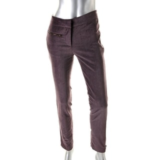 Catherine Malandrino Womens Velveteen Zip Ankle Casual Pants - 2