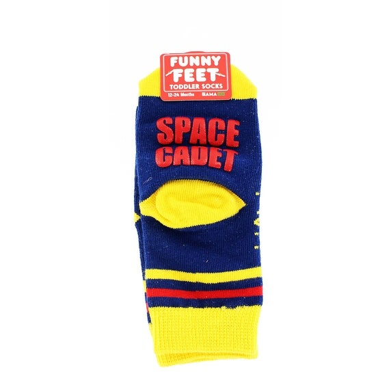 Funny Feet Toddler Socks: Space Cadet - Multi