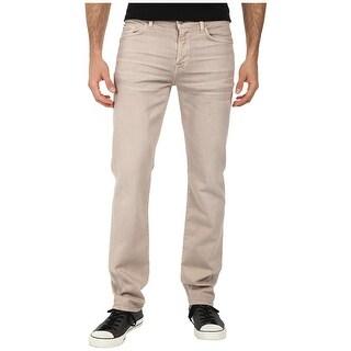 7 For All Mankind Mens Slimmy Slim Straight Leg Jeans 34 Khaki