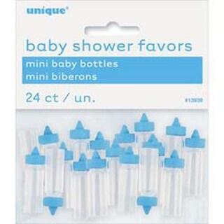 Blue - Plastic Mini Baby Bottles 24/Pkg