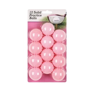 Intech Golf Hollow, Dimpled Practice Balls (12-Pack, Pink)