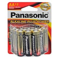 """12-pc. Panasonic Alkaline """"AA"""" Batteries"""