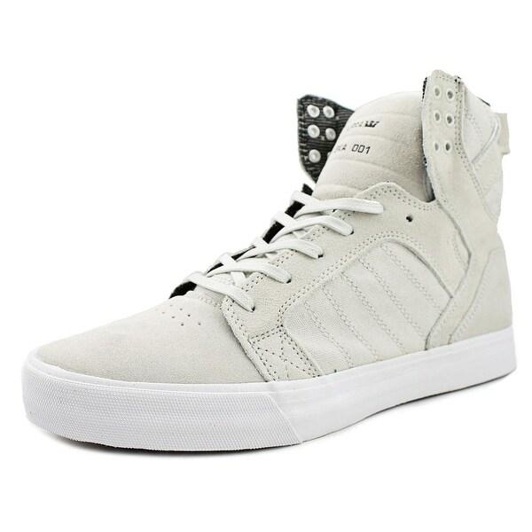 Supra Skytop Men Light Grey-White Sneakers Shoes