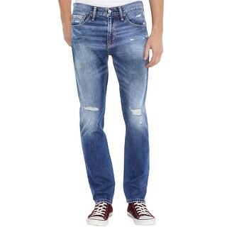 Levi's 511 Slim Fit Blue Ripped and Faded Jeans 28 x 32