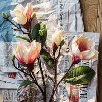"RusticReach Silk Magnolia Flower Stem in Pink 32"" Tall"