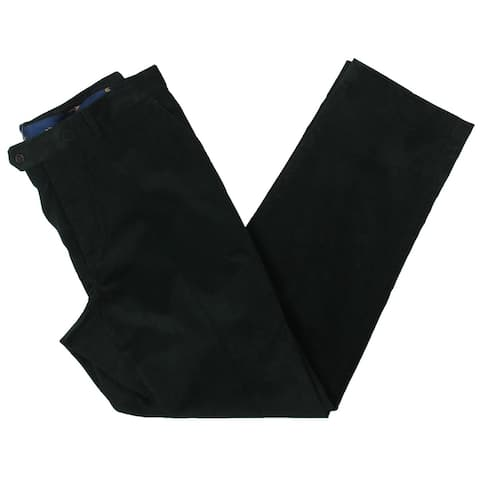 Lauren Ralph Lauren Mens Dewhurst Trouser Pants Corduroy Flat Front - Green - 34/30