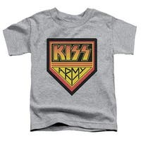 Kiss- Army Logo Short Sleeve Toddler Tee, Athletic Heather -