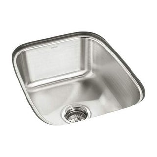 "Sterling 11449 SpringDale 16-1/2"" Single Basin Undermount Stainless Steel Bar Si"