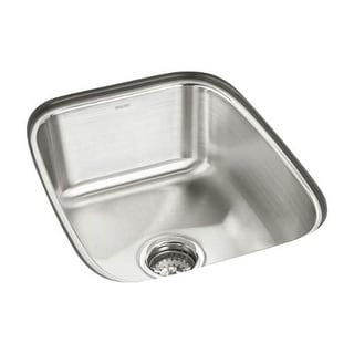 "Sterling 11449 SpringDale 16-1/2"" Single Basin Undermount Stainless Steel Bar Si - Stainless Steel"