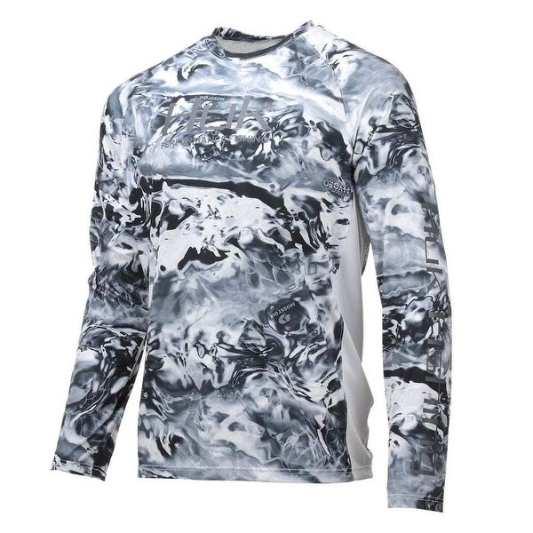 a02d66759 Huk Men's Pursuit Camo Vented Hydro Ice Medium Long Sleeve Shirt