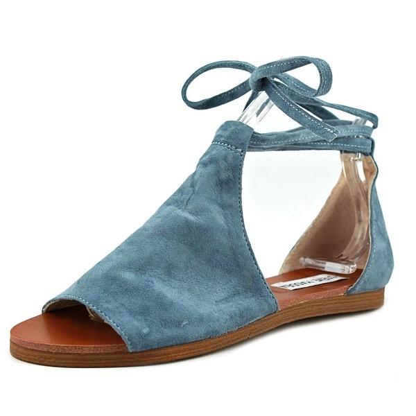 f9fdcbb4cedc Shop Steve Madden Elaina Women Open Toe Suede Blue Gladiator Sandal ...