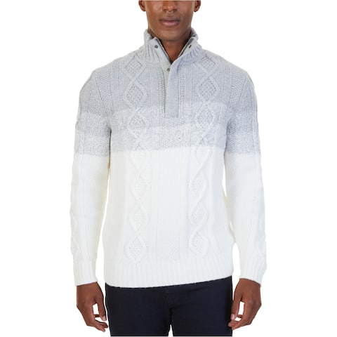 Nautica Mens Diamond Knit Pullover Sweater