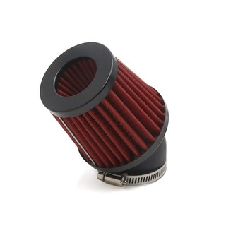 48mm Inner Dia 45 Degree Angle Motorcycle Air Intake Filter Cleaner Red