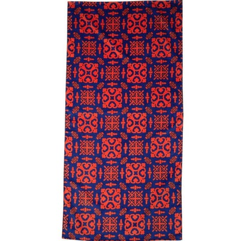 Batik Orange 30x60 Brazilian Velour Beach Towel