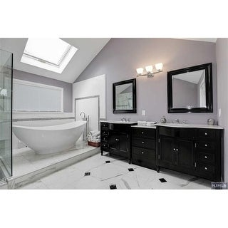 Shop Silkroad Exclusive 95 Inch Carrara White Marble Top