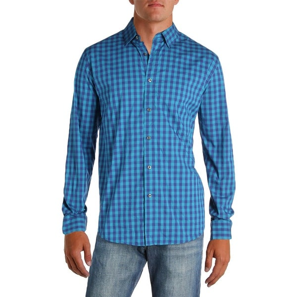 81464314fd Shop Under Armour Mens Button-Down Shirt Plaid Heat Gear - XL - Free ...