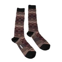 Missoni GM00CMU5241 0004 Burgundy/Tan Knee Length Socks