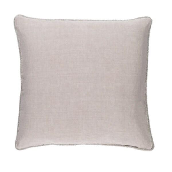 "20"" x 20"" Horizon Gray Linen Decorative Square Throw Pillow - Down Filler"