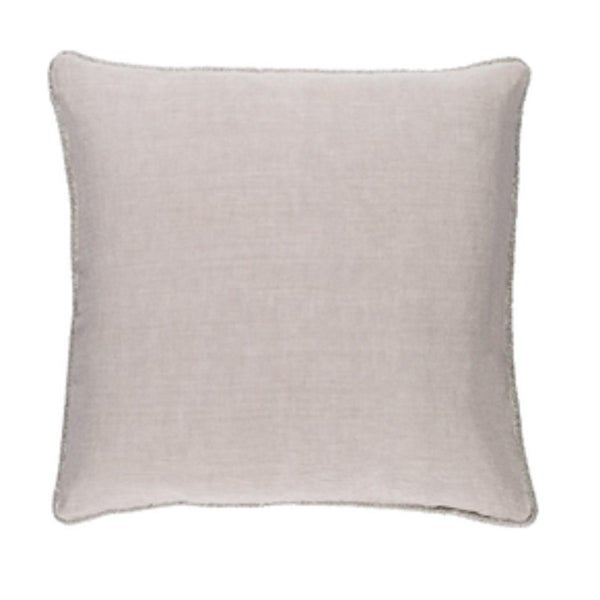 "22"" x 22"" Horizon Gray Linen Decorative Square Throw Pillow - Down Filler"