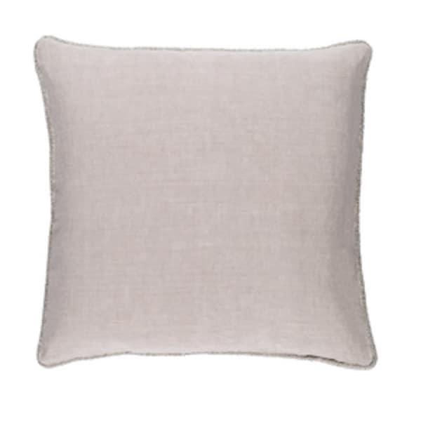 "22"" x 22"" Horizon Gray Linen Decorative Square Throw Pillow"