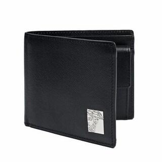 Versace Collection Black Leather Medusa Wallet - L