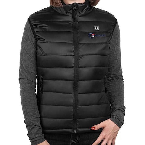 OUTCOOL Women's Jacket Black Size Small S Heated Vest Slim Fit Full-Zip
