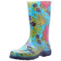 Sloggers 5002BL07 Women's Rain And Garden Boots, Midsummer Blue, Size 7