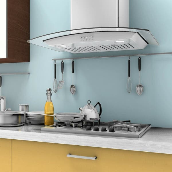 Gymax 30 Wall Mount Kitchen Range Hood Stainless