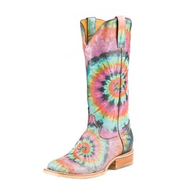 Tin Haul Western Boots Womens Tie Dye Pink