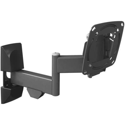 Barkan 13in- 29in Full Motion - 4 Movement Flat / Curved TV Wall Mount Up to 33 lbs Black Lifetime Warranty