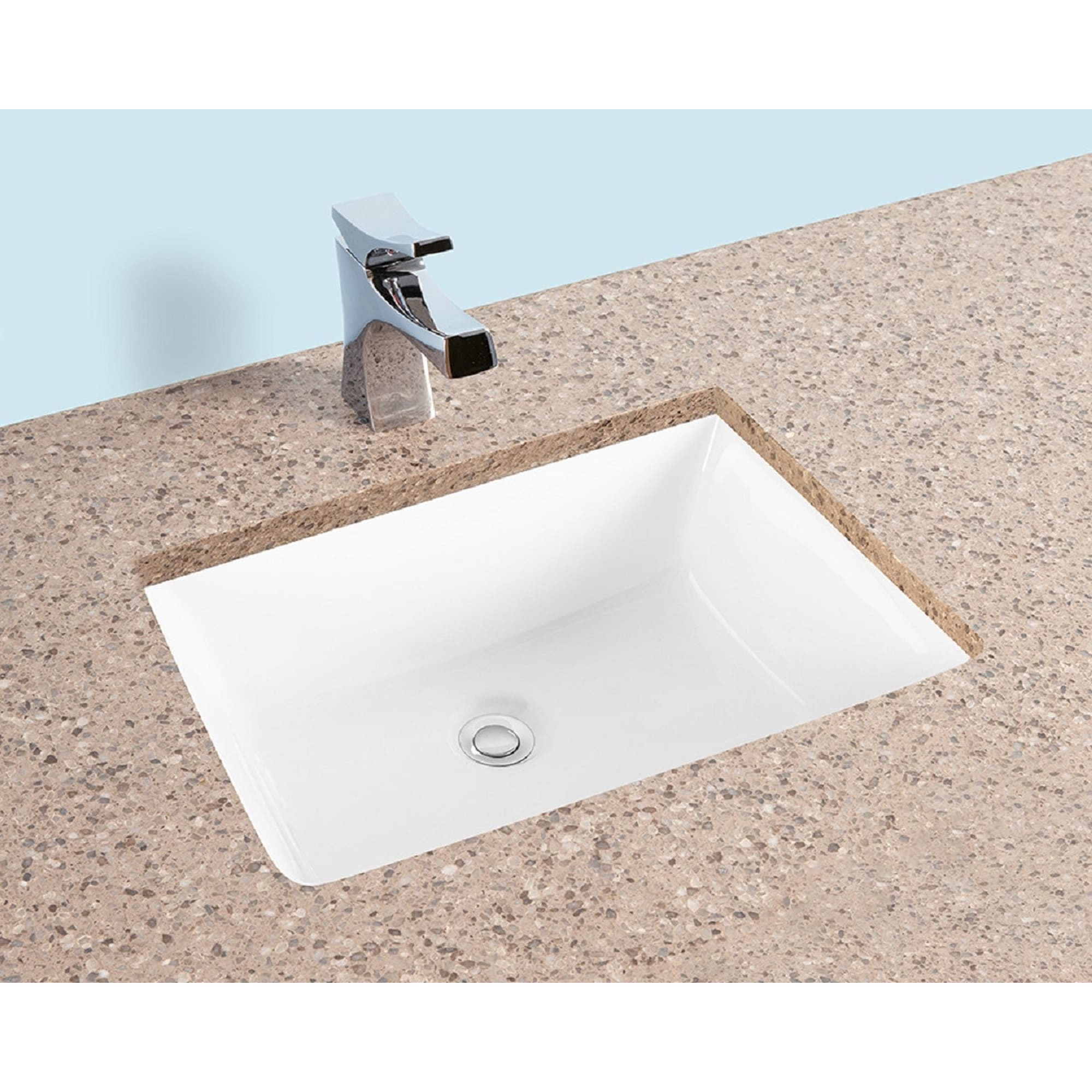 Fiore 2015 20 X15 Rectangle Undermount Bathroom Sink W Concealed Overflow Hole Modern Porcelain Ceramic Lavatory White Overstock 31422668