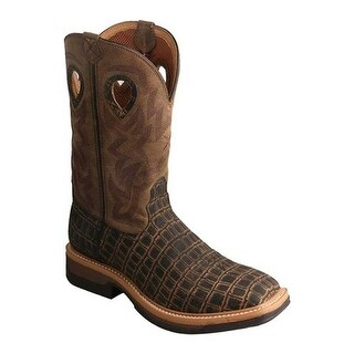 Twisted X Boots Men's MLCW023 Lightweight Cowboy Work Boot Cayman Print/Bomber Leather