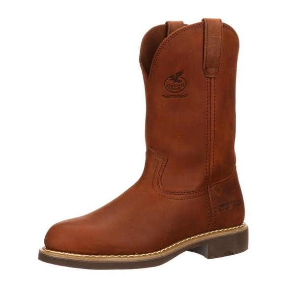 Georgia Boot Work Mens Carbo Tec Farm N Ranch Prairie Chestnut