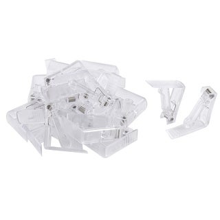 Home Party Wedding Banquet Plastic Table Cloth Holder Clip Clamp Clear 24 Pcs