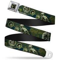 Rex Silhouette Full Color Black Blue Green Buzz Poses Stars Like A Buzz Seatbelt Belt