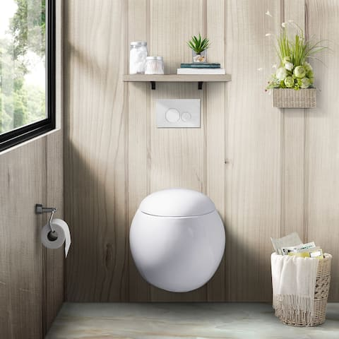 Swiss Madison Plaisir Wall Hung Toilet Bowl, White