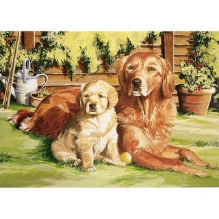 """Paint By Number Kit 12""""X16""""-Dog World"""
