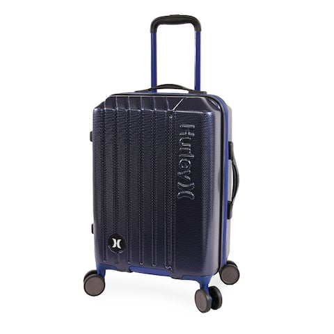 Hurley Swiper 21-inch Carry On Hardside Spinner Suitcase - Navy/Blue