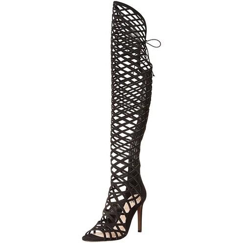 Vince Camuto Womens keliana Fabric Open Toe Over Knee Fashion Boots