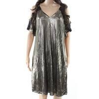 Rachel Rachel Roy Womens Small Metallic Shift Dress