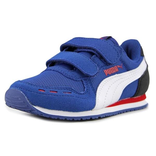 ae5c2a210e33 Shop Puma Cabana Racer Mesh V Round Toe Suede Sneakers - Free ...