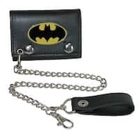 BioWorld Men's DC Comics Batman Trifold Chain Wallet - One size