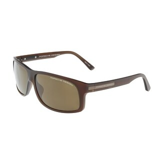 Porsche P8572-C Brown Rectangle Sunglasses - 64-14-135