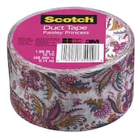 Scotch Duct Tape, 1.88 Inches x 10 Yards, Pink Paisley