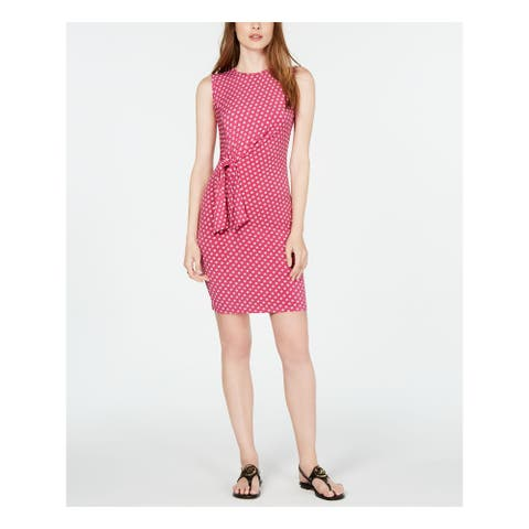 MICHAEL KORS Pink Sleeveless Above The Knee Dress S