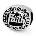 Sterling Silver Reflections Faith Bead (4mm Diameter Hole) - Thumbnail 0