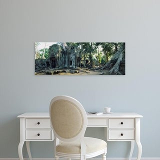 Easy Art Prints Panoramic Images's 'Old ruins of a building, Angkor Wat, Cambodia' Premium Canvas Art